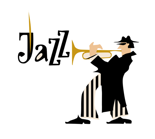 Musicians With Jazz Music Vector Material 05 Vector