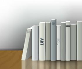 Neat book vector material 01