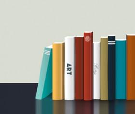 Neat book vector material 02
