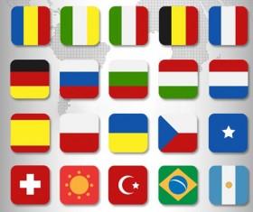 PSD Flags Icon Set