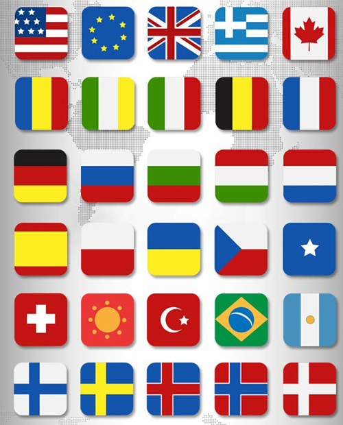 PSD Flags Icon Set