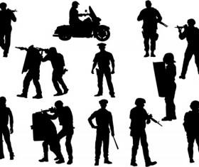 Policeman silhouette vectors