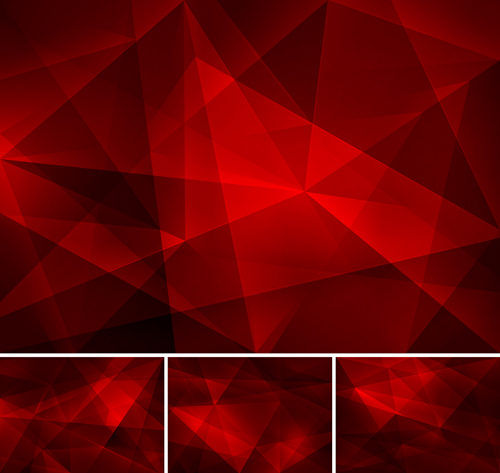 Red fractal abstract b...