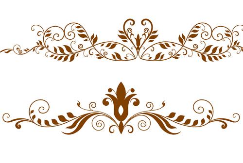 Retro decor floral photoshop brushes - Photoshop Brushes free download