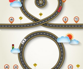 Road trip background vector material 04