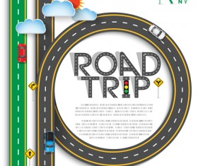 Road trip background vector material 06