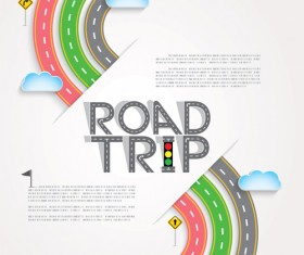 Road trip background vector material 07