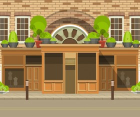Roadside cafe vector template 02