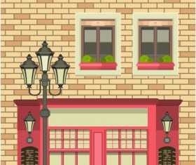Roadside cafe vector template 04