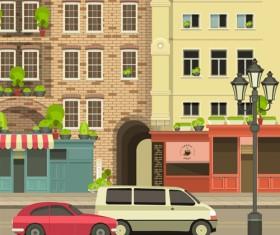 Roadside cafe vector template 05