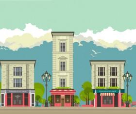 Roadside cafe vector template 06