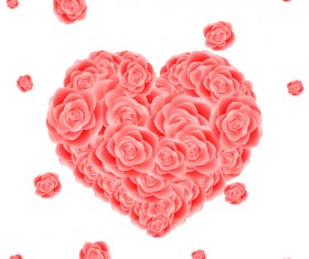 Rose with heart photoshop brushes