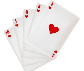 Royal straight flush playing cards vector 01