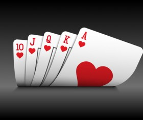 Royal straight flush playing cards vector 04