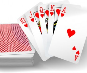 Royal straight flush playing cards vector 05