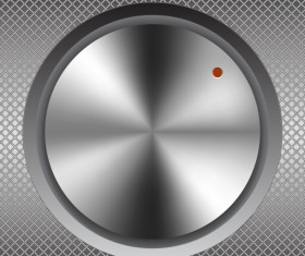 Silvery metal button vector material 02