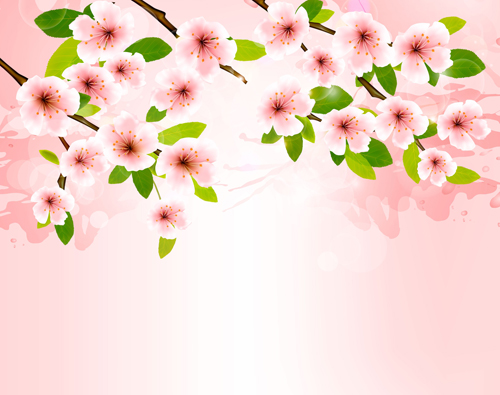 Spring pink background with flowers vector free download spring pink background with flowers vector mightylinksfo