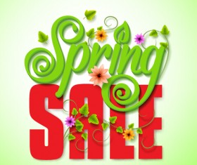 Spring sale background material vector 01