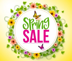 Spring sale background material vector 02