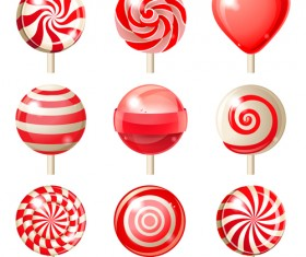 Sweet candies cute icons set 01