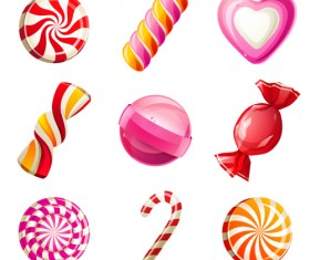 Sweet candies cute icons set 02