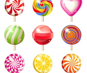 Sweet candies cute icons set 03