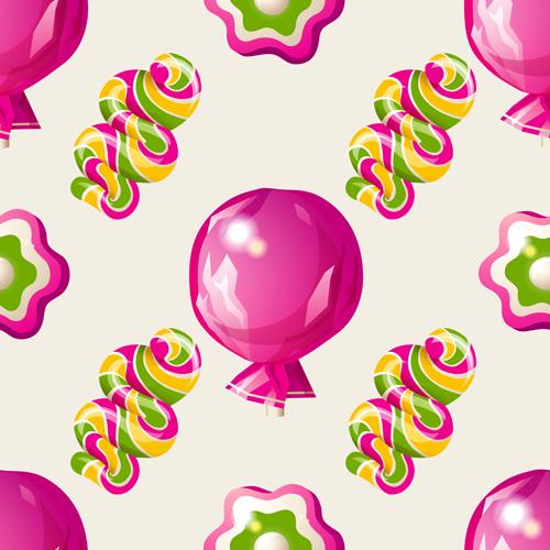 Sweet candies vector seamless pattern 04