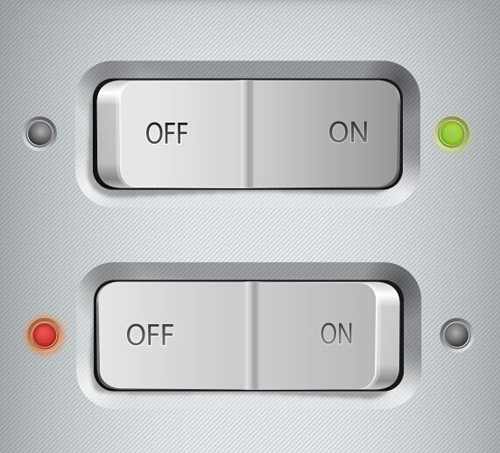 Switch Buttons PSD Template