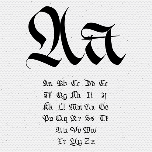 Tattoo alphabets vintage styles vector vector font free download tattoo alphabets vintage styles vector thecheapjerseys Image collections