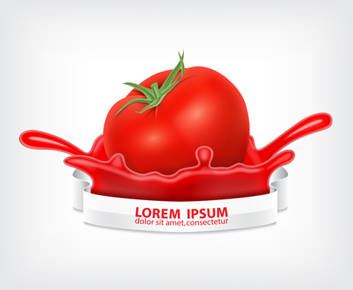 tomato splashes vector material vector food free download