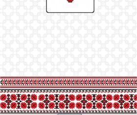 Ukrainian folk style background vector 08