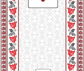 Ukrainian folk style background vector 09