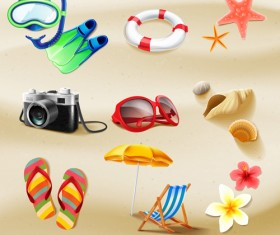 Vector icon summer set