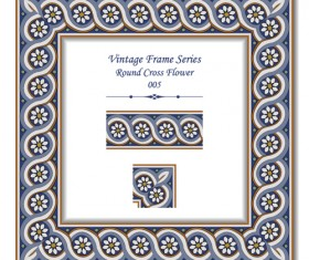 Vintage frame series vector set 01