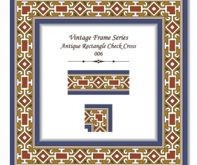 Vintage frame series vector set 02