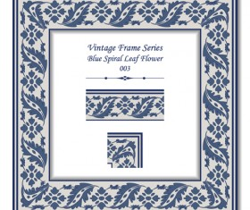 Vintage frame series vector set 03