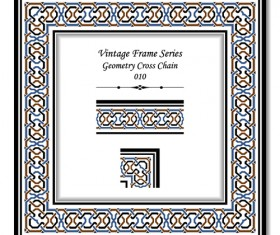 Vintage frame series vector set 04