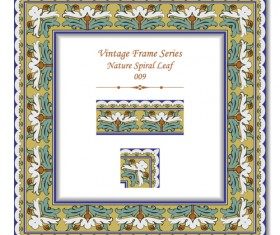 Vintage frame series vector set 05