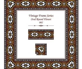 Vintage frame series vector set 06