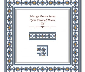 Vintage frame series vector set 07