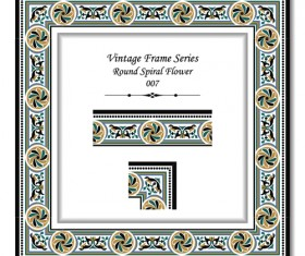 Vintage frame series vector set 08