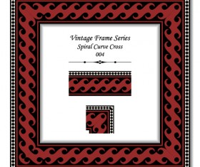 Vintage frame series vector set 09