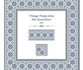 Vintage frame series vector set 10