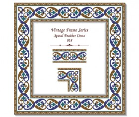 Vintage frame series vector set 11