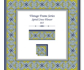 Vintage frame series vector set 12