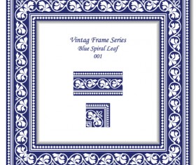 Vintage frame series vector set 13