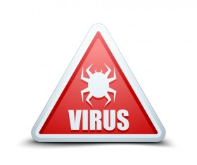 Virus warning sign vector material 01
