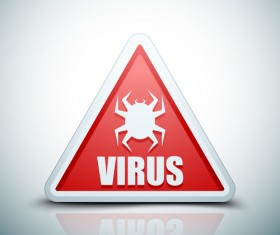 Virus warning sign vector material 02