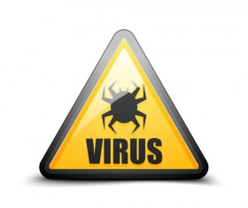 Virus warning sign vector material 03