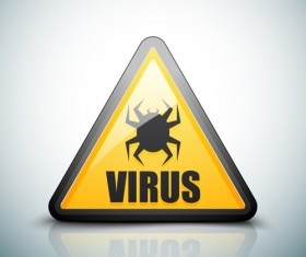 Virus warning sign vector material 04